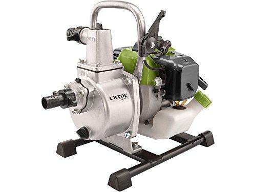 Extol Craft Wasserpumpe, 0,9 kW, Benzin, Teich-/Gartenpumpe, 1 Stück, silber / grün, 414502