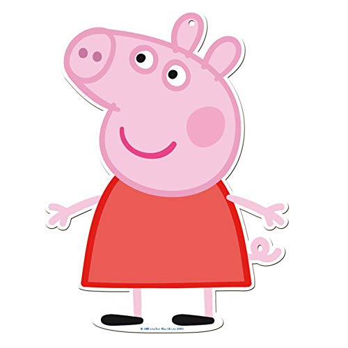 Peppa Pig 0887, Pack 4 Siluetas 30 cms, Decoracion de Fiestas y cumpleaños