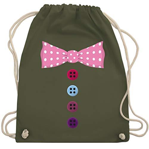 Fliegen Für Erwachsene Kostüm - Karneval & Fasching - Clown Kostüm rosa Fliege - Unisize - Olivgrün - WM110 - Turnbeutel & Gym Bag