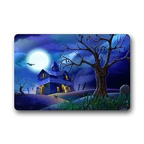 Our Iris Happy Halloween Decor Rug Welcome Door Mat Rug Indoor/Outdoor Mats Welcome Fußabtreter Decor Rug 23.6(L) x 15.7(W)