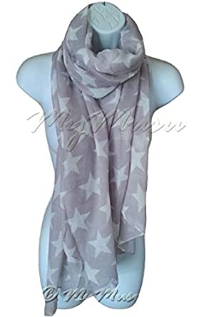 Star Print Scarf OverSize Fashion Womens MyMusu Scarves (Lavender)