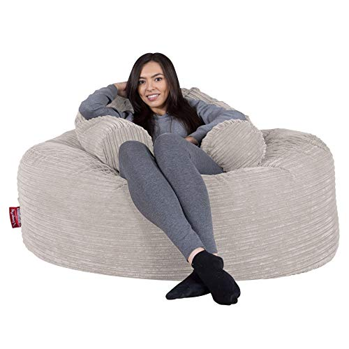 Lounge Pug®, 'Mammoth' Sofa Sitzsack XXL, Riesen Sessle, Cord Creme
