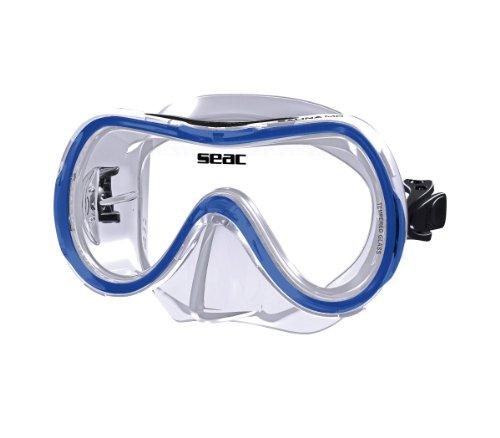Seac Salina MD Siltra Schnorchel-Maske für Jungen/Frauen, PCV, Salina MD SILTRA BLU, blau