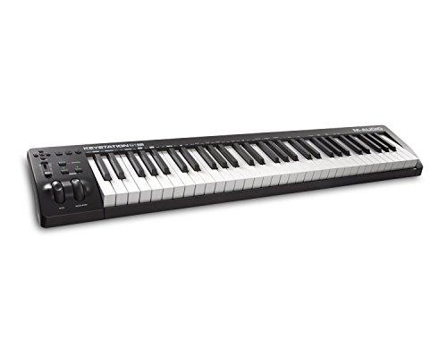 M-Audio Keystation 61 MK3 - Tastiera Controller MIDI USB a 61 tasti semi-pesati, controlli assegnabili, Pitch/Modulation wheel, plug-and-play (Mac/PC). Pacchetto software musicali incluso