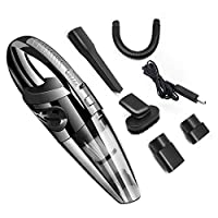 ‏‪Car Vacuum Cleaner Cordless, Lesgos 4KPa Portable Handheld Rechargeable Auto Vacuums Cleaner with Stronger Suction, DC 12V Wet and Dry Use for Quick Car Cleaning/Home/Pet Hair‬‏