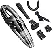 Car Vacuum Cleaner Cordless, Lesgos 4KPa Portable Handheld Rechargeable Auto Vacuums Cleaner with Stronger Suc