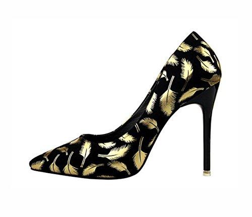 WZG Die neue Miss Gao Genxie Sandelholzfersen Modefarben Gold