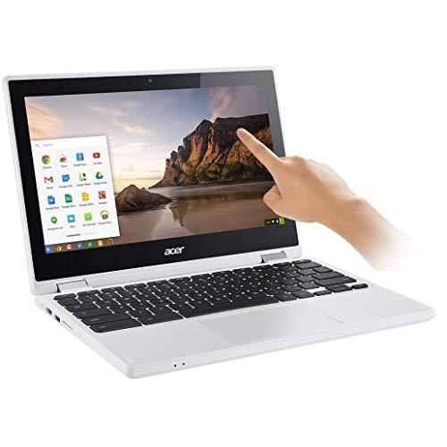 "Acer Flagship R11 11.6"" IPS HD 2-in-1 Convertible Touchscreen Chromebook (Intel Quad-Core N3160 1.6GHz, 4GB RAM, 32GB SSD, 802.11ac, Bluetooth, HD Webcam, HDMI, USB 3.0, Chrome OS, White)"
