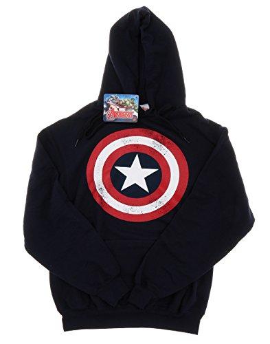 marvel-donna-captain-america-distressed-shield-felpa-con-cappuccio-x-large-marina-militare