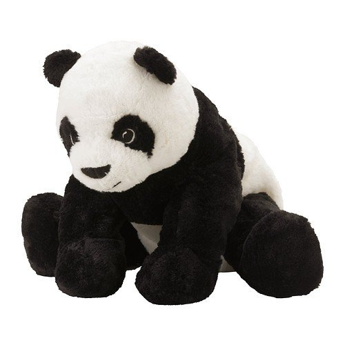 "Preisvergleich Produktbild IKEA ""KRAMIG"" - Pandabär - Stoffspielzeug, Weiß, Schwarz"