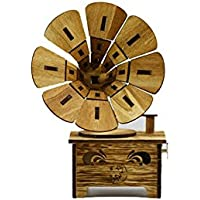 Preisvergleich für Baby-lustiges Spielzeug Holz Handwerk Spieluhr Vintage-Stil Grammophon Modell Spieluhr
