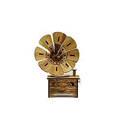 Driverder Decorazione Regalo Scatola Musicale Unisex Music Box in Legno Stile Vintage