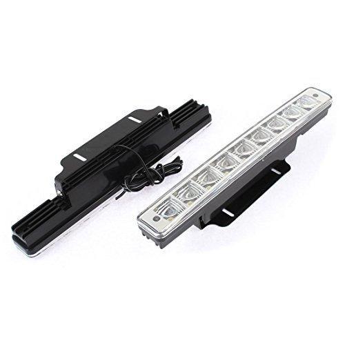 Preisvergleich Produktbild DealMux Auto 5050 SMD 8-LED-DRL Tagesbetrieb Streifen Nebel-Lampen-Weiß 2 Stück