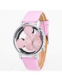 d22fb477f200 WATCHYA Reloj Deportivo Relogio Feminino Luxo 2018 Reloj para Dama con  Cristales Relojes Mujer Lujo Cuarzo con Cuero Mickey Mouse Kad N…
