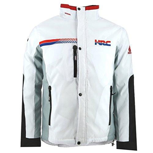 Honda HRC Moto GP Team Logo Weiß Jacke Offiziell 2017 (Honda Team Jacke)