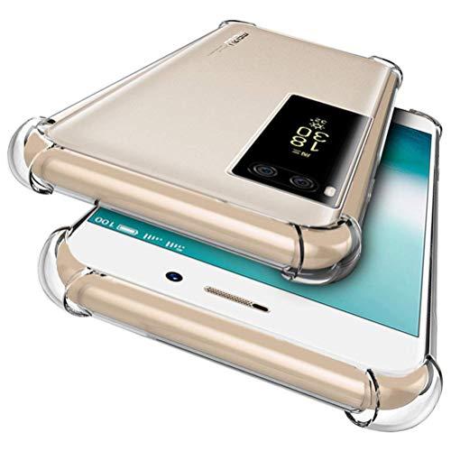 WindCase Meizu Pro 7 Plus Hülle, Crystal Transparent Elastisch TPU Case Fallschutz Shockproof Schutzhülle für Meizu Pro 7 Plus