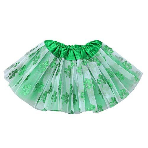 Preisvergleich Produktbild YWLINK MäDchen Kinder Festlich Party St.Patrick's Day Karneval Minirock Tanzen Sie Tutu Ballett Bling KostüM Rock(Grün, 3-8 Jahre)