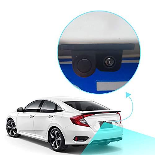 41HjEIOGShL - Luckiests 2 en 1 Auto estacionamiento del sensor del sonido de alarma del revés del coche del vídeo de copia de seguridad del coche granangular de alta definición marcha atrás cámara de visión trasera