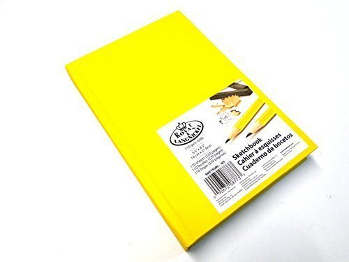 royal-langnickel-yellow-a4-sketchbook-cartridge-drawing-paper-artist-sketch-book-pad-casebound-110gs