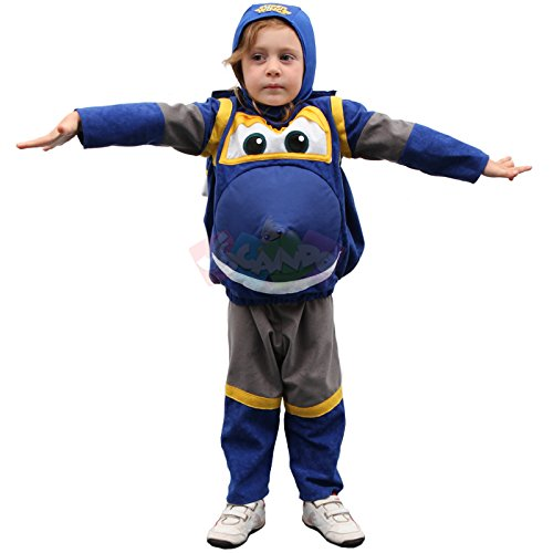 Giochi preziosi 44195 super wings costume bambino jerome completo taglia 4-5 anni