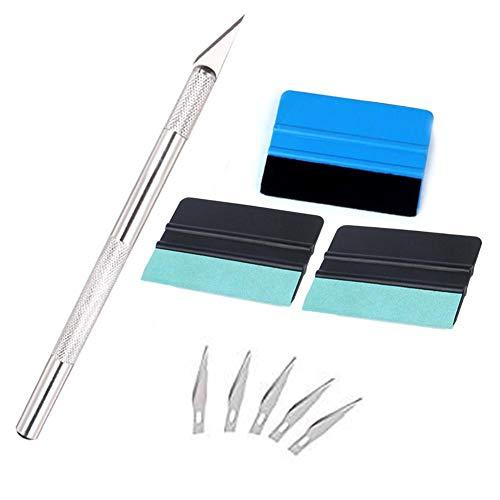 Craft-folie (Terferein-9Pcs Auto Folie Werkzeug Rakel Set Craft Cutter Mit Schutzkappe Für Folienfilm Aufkleber)
