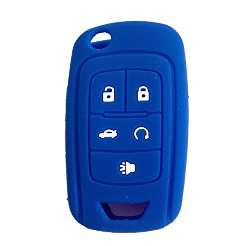 ezzy-auto-navy-blue-5-buttons-silicone-cover-holder-key-jacket-fit-for-chevrolet-camaro-cruze-volt-e