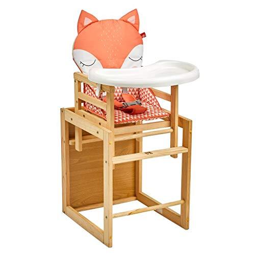 Multifonction Chaise Haute, Ergonomique Chaise de Salle à Manger pour bébé avec Plateau de Protection de l'environnement, Hauteur réglable Facile à Nettoyer