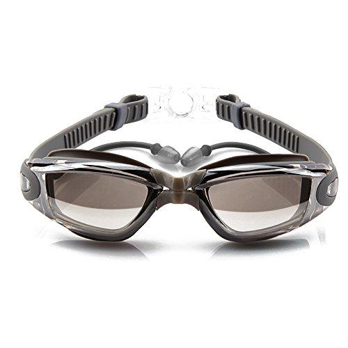 HUIMEIDA Schwimmen Goggle Stöpsel MIT Schwimmbrille UV - strahlung Ohrstöpsel, Fall für Männer...