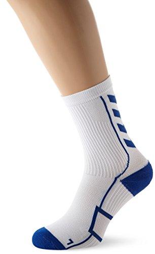 urz Unisex mit Polsterung div. Farben - REFLECTOR TECH INDOOR SOCK LOW - Socken antibakteriell für Sport & Fitness - Strümpfe Mesh Belüftung, White/True Blue, 10, 21-074-9368 (Dicke Weiße Socken Herren)