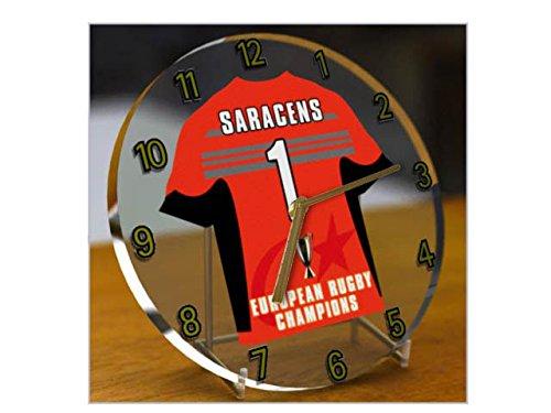 SARACENS RFC Rugby Club?Europäischen Rugby Champions Cup Winners 2016/17Gedenkmünzen Desktop-Uhr?Marke neue Acryl Shirt Design. (Rugby-shirt Europäische)