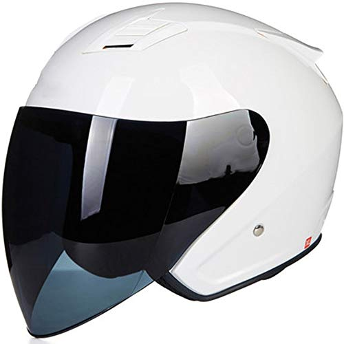Qingbaotongzhuang Elektroauto Anti-Fog-Halbhelm Tankhelm Motorradhelm Four Seasons and A Half-Covered Personality Ventilation Sonnenschutzhelm Anti-Impact (Size : M)