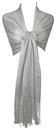 Gfm disegno a maglia scintillante scintillare sciarpa (wg)(drv)(msh1-chch)
