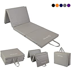 Sure Shot Fitness Unisex's Four Fold Fitness Mat, Silver, 50mm