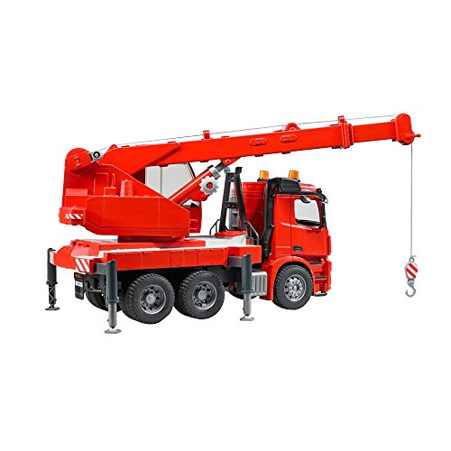 Image of Bruder 03670 MB Arocs Crane Truck Toy with Light and Sound Module