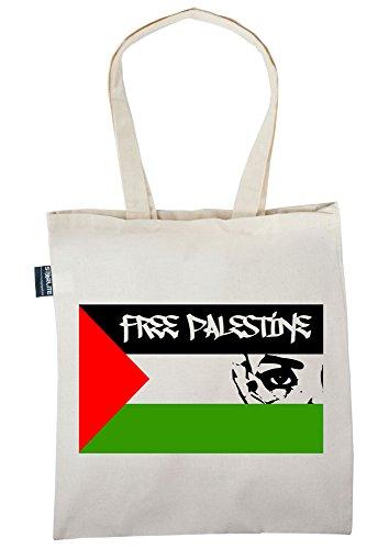 Preisvergleich Produktbild Starlite-Neuheit Taschen Freies Palästina-Flagge mit Gesichts (Flag with Face)-Taschen Shopper Tragetasche