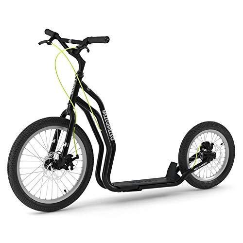 Yedoo Kopenhagen Blauer Monopattino-Kick Bike-con ruote pneumatiche per adulti fino a 120kg Scooter a partire da 12anni viene parzialmente montato in scatola di cartone