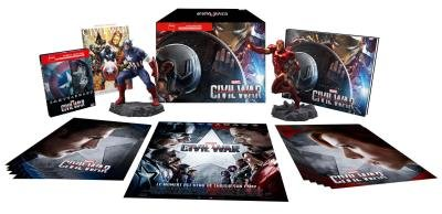 Preisvergleich Produktbild Captain America: Civil War - Exklusiv Special Limited FNAC Box Edition (inkl. Steelbook 2D +3D,  The Art of Civil War Buch,  2 Figuren u.a.) - Blu-ray