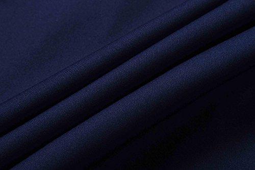 jeansian Uomo Moda Formazione Function Sportivo Casuale Palestra Fashion Tee T-Shirts Camicie LSL194 Navy