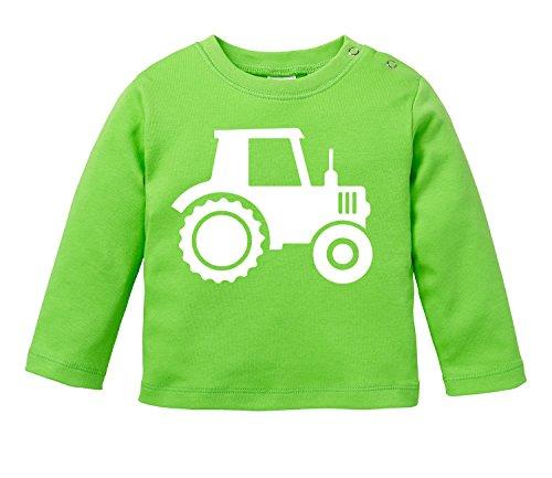 Traktor - Aufdruck für Landwirtschaft begeisterte Kinder - Bio Baby Longssleeve (Bauernhof, Kleinkind-t-shirt)