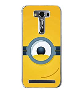 FUSON One Eye On Yellow Designer Back Case Cover for Asus Zenfone 2 Laser ZE500KL (5 Inches)