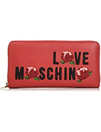 Love Moschino - Portafogli Calf Pu Rosso, Carteras de mano Mujer, Rot (Red), 10x21x3 cm (W x H D)