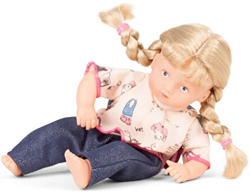 Götz 1787227 Mini-Muffin Wonderland Puppe - 22 cm große Babypuppe, gemalte Blaue Augen, Blonde Haare - Weichkörperpuppe in 3-teiligen Set - ab 18 Monaten (Puppe Mit Haar)