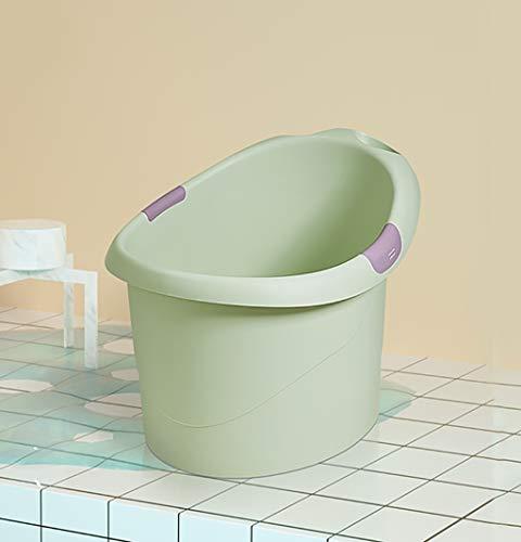 BBYP-YJ Badewanne tragbar Baby-Bad mit Bum Bump Support und gemütlichen Schaumstoff-Rückenlehne (Farbe : A)