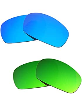 Hkuco Plus Mens Replacement Lenses For Oakley Jawbone Blue/Green Sunglasses
