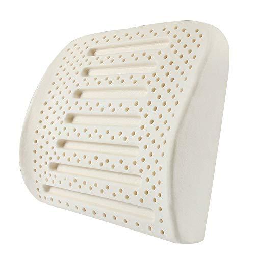 YUSDP Rückenstützkissen Rückenlehne aus Latex-Lendenkissen - Zur Linderung von Rückenschmerzen mit hochwertigem Naturlatex-Material, hypoallergen mit Schutzhülle -