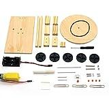 Delicacydex DIY Plotter eléctrico Dibujo Robot Kit Física Experimento científico Inventos creativos Montar Modelo de Juguete para niños - Color Madera