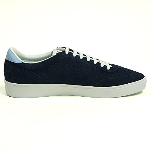 Fred Perry Umpire Suede Trainer in Carbon Blue Carbon Blue