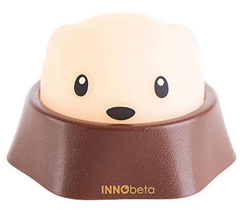 InnoBeta Molky LED Veilleuse portable, rechargeable avec lumière blanche et chaude réglable, idéal pour chambre de bébés, chambre d'enfant, chambre et salon, lampe de camping en plein air, lampe de table, lampe de chevet, lampe et veilleuse bébé---pour