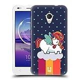 Head Case Designs Winter Phantastische Einhörner 2 Chubby Soft Gel Hülle für Alcatel U5 HD