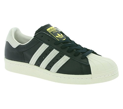 Adidas Superstar 80s Schuhe core black-footwear white-gold metallic - 46 2/3